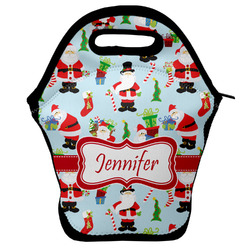 Santas w/ Presents Lunch Bag (Personalized)