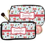 Santas w/ Presents Makeup / Cosmetic Bag (Personalized)