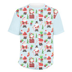 Santas w/ Presents Men's Crew T-Shirt (Personalized)