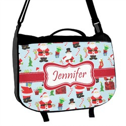 Santas w/ Presents Messenger Bag (Personalized)