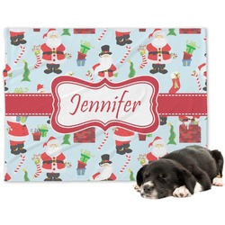 Santa and Presents Dog Blanket (Personalized)
