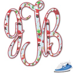Santa and Presents Monogram Iron On Transfer (Personalized)