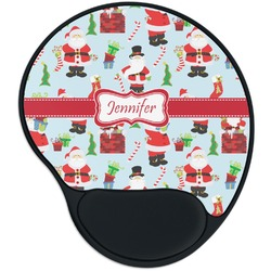 Santa and Presents Mouse Pad with Wrist Support