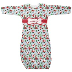 Santas w/ Presents Newborn Gown - 3-6 (Personalized)