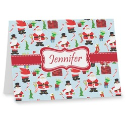 Santa and Presents Note cards w/ Name or Text