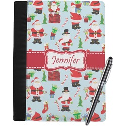 Santas w/ Presents Notebook Padfolio (Personalized)