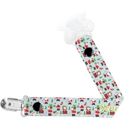 Santa and Presents Pacifier Clips (Personalized)