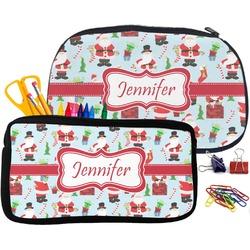 Santas w/ Presents Pencil / School Supplies Bag (Personalized)