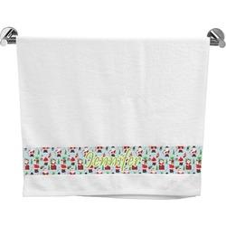 Santas w/ Presents Bath Towel (Personalized)