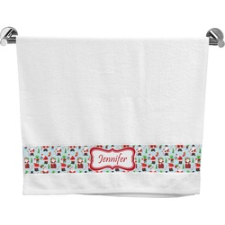 Santas w/ Presents Bath Towel (Personalized)