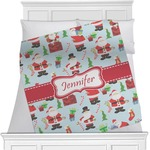 Santa and Presents Minky Blanket (Personalized)