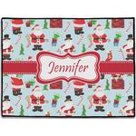 Santas w/ Presents Door Mat (Personalized)