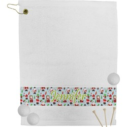 Santas w/ Presents Golf Towel (Personalized)