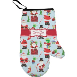 Santas w/ Presents Right Oven Mitt (Personalized)