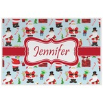Santa and Presents Laminated Placemat w/ Name or Text