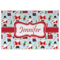 Santas w/ Presents Placemat (Laminated) (Personalized)