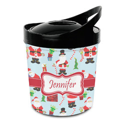 Santas w/ Presents Plastic Ice Bucket (Personalized)