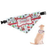 Santas w/ Presents Dog Bandana (Personalized)