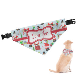 Santas w/ Presents Dog Bandana (Personalized)