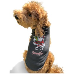 Santas w/ Presents Black Pet Shirt - Multiple Sizes (Personalized)