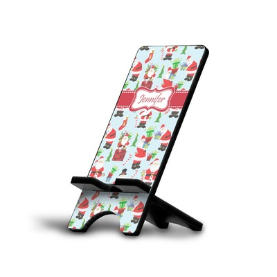 Santas w/ Presents Cell Phone Stands (Personalized)