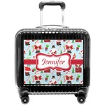 Santa and Presents Pilot / Flight Suitcase w/ Name or Text