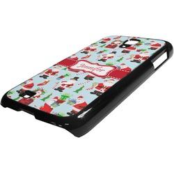 Santas w/ Presents Plastic Samsung Galaxy 4 Phone Case (Personalized)