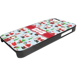 Santas w/ Presents Plastic iPhone 5/5S Phone Case (Personalized)