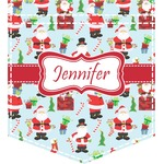 Santa and Presents Iron On Faux Pocket w/ Name or Text