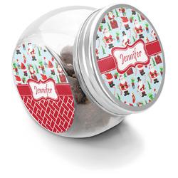 Santas w/ Presents Puppy Treat Jar (Personalized)