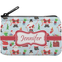 Santas w/ Presents Rectangular Coin Purse (Personalized)