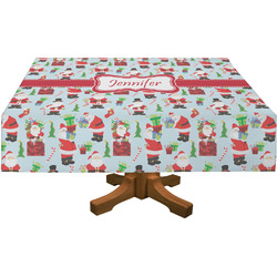 Santas w/ Presents Tablecloth (Personalized)