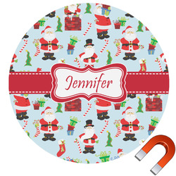 Santa and Presents Car Magnet (Personalized)