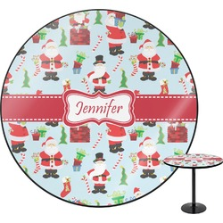 Santas w/ Presents Round Table (Personalized)