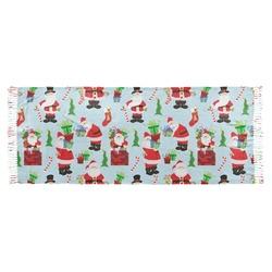 Santas w/ Presents Faux Pashmina Scarf (Personalized)