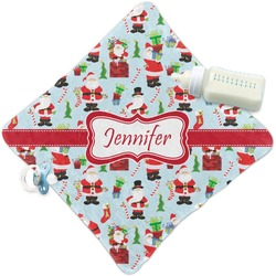 Santas w/ Presents Security Blanket (Personalized)