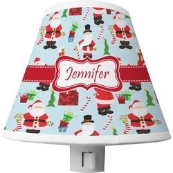 Santa and Presents Shade Night Light w/ Name or Text