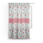 Santa and Presents Sheer Curtains (Personalized)