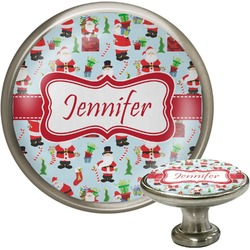Santas w/ Presents Cabinet Knobs (Personalized)