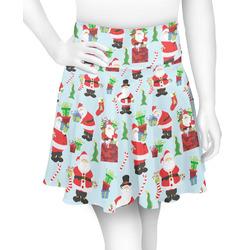 Santas w/ Presents Skater Skirt (Personalized)