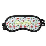 Santas w/ Presents Sleeping Eye Mask (Personalized)
