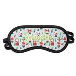 Santas w/ Presents Sleeping Eye Mask (Personalized)