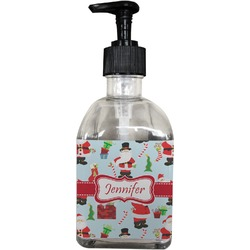 Santas w/ Presents Soap/Lotion Dispenser (Glass) (Personalized)