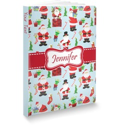 "Santas w/ Presents Softbound Notebook - 7.25"" x 10"" (Personalized)"