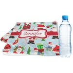Santa and Presents Sports & Fitness Towel w/ Name or Text