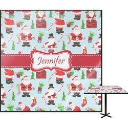 Santas w/ Presents Square Table Top (Personalized)