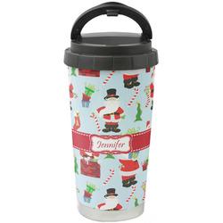 Santas w/ Presents Stainless Steel Travel Mug (Personalized)