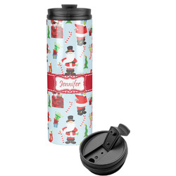 Santas w/ Presents Stainless Steel Tumbler (Personalized)