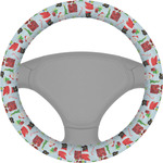 Santa and Presents Steering Wheel Cover (Personalized)