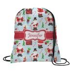 Santa and Presents Drawstring Backpack (Personalized)